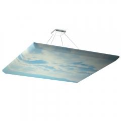 Акустическая подвесная звукопоглощающая панель Ecosound Quadro Sky. 50мм 1х1м Цвет голубой