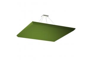 Акустическая подвесная звукопоглощающая панель Ecosound Quadro Green. 50мм 1х1м Цвет зелёный