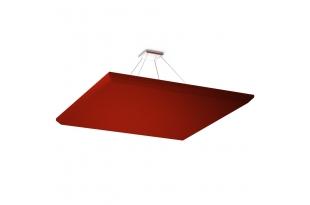 Акустическая подвесная звукопоглощающая панель Ecosound Quadro Red. 50мм 1х1м Цвет красный