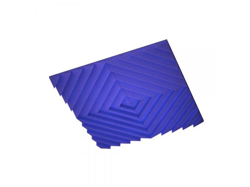 Акустическая подвесная звукопоглощающая панель Ecosound Quadro Acoustic Wave Blue. 50мм 1х1м Цвет синий