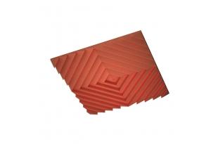 Акустическая подвесная звукопоглощающая панель Ecosound Quadro Acoustic Wave Red. 50мм 1х1м Цвет красный