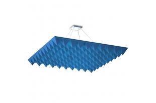 Акустическая подвесная звукопоглощающая панель Ecosound Quadro Pyramid Blue. 50мм 1х1м Цвет синий