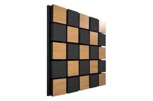 Акустическая панель Ecosound Tetras Acoustic Wood Cream 50x50см цвет светлый дуб