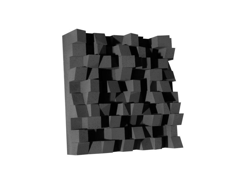 Акустический диффузор-рассеиватель Ecosound EcoDIFF Black 150мм,50х50 см цвет черный