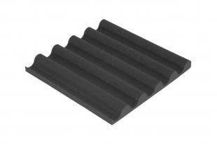 Панель из акустического поролона Ecosound VOLNA-L 50мм, 50х50см цвет черный графит