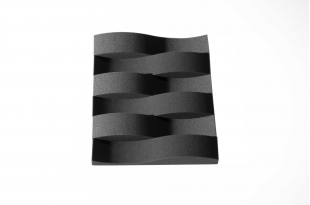 Панель из акустического поролона Ecosound FISH 75 мм, 50х10см цвет черный графит