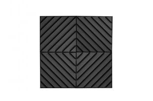 Акустическая панель Acoustic Wave 70мм,цвет черный графит 50х50см(4 штуки на фото)