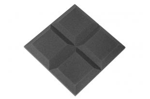 Панель из акустического поролона Ecosound Quatro 50мм,50х50см цвет черный графит
