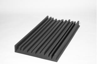 Панель из акустического поролона Ecosound Manhattan100 мм 1,2мх0,6м Цвет черный графит