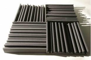 Панель из акустического поролона Ecosound Manhattan mini. 100 мм 1,2мх0,6м Цвет черный графит
