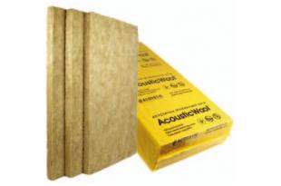 Акустическая минеральная вата Acoustic Wool Sonet P 100мм-1мх0,6м 80 кг/м3, , (2,4 м 2 /упак.)цвет светло-желтый