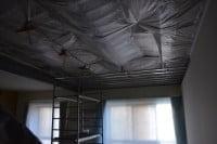 Звукоизоляция потолка, стен студии звукоизоляционным материалом macsound prof и звукоизоляционной ватой