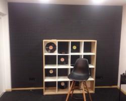 Акустический дизайн и акустическая коррекция студии панелями из акустического поролона