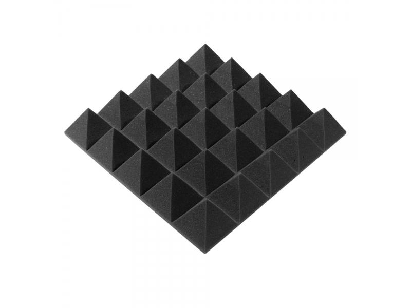 Панель из акустического поролона пирамида Ecosound Pyramid Gain Black 70 мм.45х45см цвет черный графит