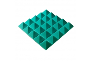 Панель из акустического поролона пирамида Ecosound Pyramid Gain Green 70 мм.45х45см цвет зелёный