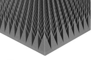 Акустический поролон Ecosound пирамида 120мм. 1мх1м Цвет черный графит