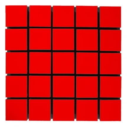 Превью Акустическая панель Ecosound Tetras Wood Red 50x50см 53мм цвет красный