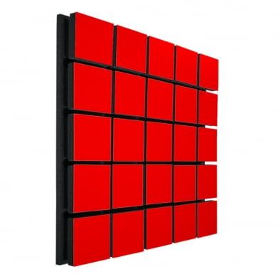 Акустическая панель Ecosound Tetras Wood Red 50x50см 53мм цвет красный