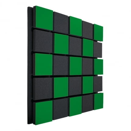 Акустическая панель Ecosound Tetras Acoustic Wood Green 50x50см 50мм Цвет зелёный
