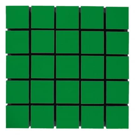 Превью Акустическая панель Ecosound Tetras Wood Green 50x50см  53мм цвет зелёный