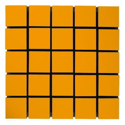 Превью Акустическая панель Ecosound Tetras Wood Orange 50x50см 50мм цвет оранжевый