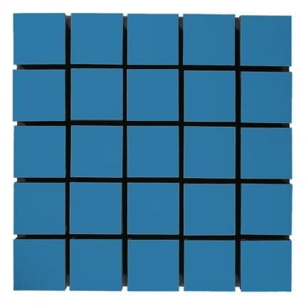 Превью Акустическая панель Ecosound Tetras Wood Blue 50x50см 50мм цвет синий