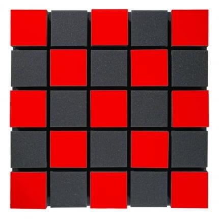 Превью Акустическая панель Ecosound Tetras Acoustic Wood Red 50x50см 50мм Цвет красный