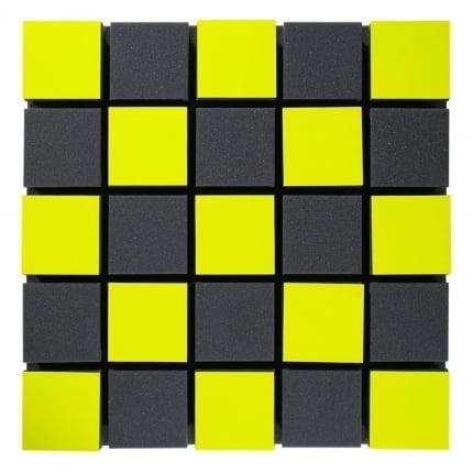 Превью Акустическая панель Ecosound Tetras Acoustic Wood Yellow 50x50см 53мм цвет жёлтый