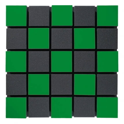 Превью Акустическая панель Ecosound Tetras Acoustic Wood Green 50x50см 50мм Цвет зелёный