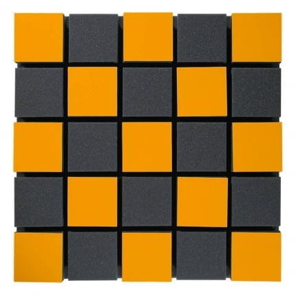 Превью Акустическая панель Ecosound Tetras Acoustic Wood Orange 50x50см 50мм цвет оранжевый