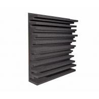 Панель из акустического поролона Ecosound Manhattan mini. 100мм 50х50см Цвет черный графит