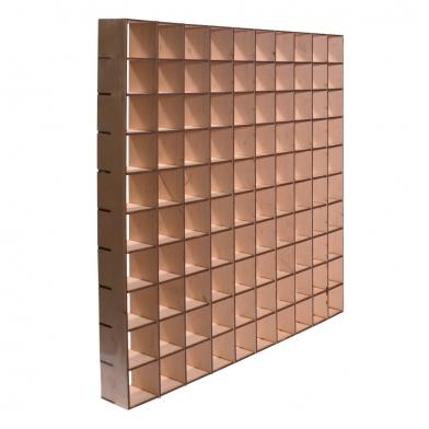 Купить акустический диффузор ecosound radiator  50х50 см 50мм цвет светлый дуб по низкой цене