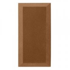 Бархатная акустическая панель из акустического поролона Ecosound Velvet Brown 50х25см 50мм. Цвет коричневый
