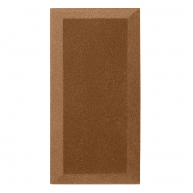 Купить бархатная акустическая панель из акустического поролона ecosound velvet brown 50х25см 50мм. цвет коричневый по низкой цене