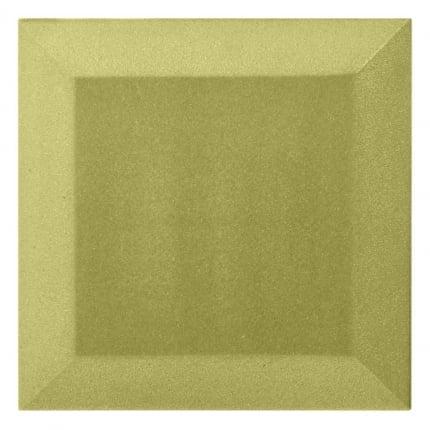Бархатная акустическая панель из акустического поролона Ecosound Velvet Light Green 25х25см 50мм. Цвет зелёный