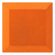 Бархатная акустическая панель из акустического поролона Ecosound Velvet Orange 25х25см 50мм. Цвет оранжевый