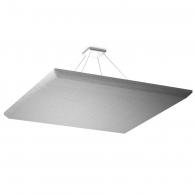 Акустическая подвесная звукопоглощающая панель Ecosound Quadro Light gray. 70мм 1х1м Цвет светло-серый