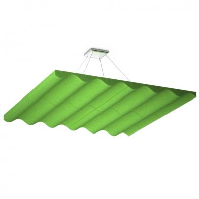 Купить акустическая подвесная звукопоглощающая панель ecosound quadro wave green. 50мм 1х1м цвет зелёный по низкой цене