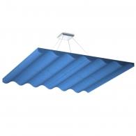 Акустическая подвесная  звукопоглощающая панель Ecosound Quadro Wave Blue. 50мм 1х1м Цвет синий