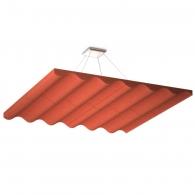 Акустическая подвесная звукопоглощающая панель Ecosound Quadro Wave Red. 50мм 1х1м Цвет красный
