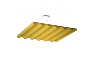 Акустическая подвесная звукопоглощающая панель Ecosound Quadro Wave Yellow.  50мм 1х1мЦвет жёлтый