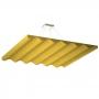 Купить акустическая подвесная звукопоглощающая панель ecosound quadro wave yellow.  50мм 1х1мцвет жёлтый по низкой цене