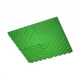 Акустическая подвесная звукопоглощающая панель Ecosound Quadro Acoustic Wave Green. 50мм 1х1м Цвет зелёный