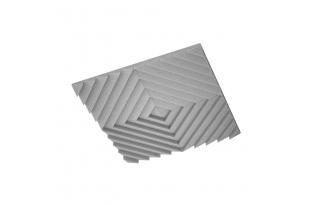 Акустическая подвесная звукопоглощающая панель Ecosound Quadro Acoustic Wave Grey. 50мм 1х1м Свет серый