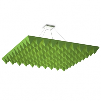 Акустические облака Quadro Pyramid Green для потолка.