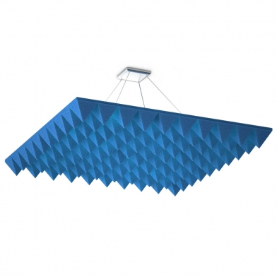 Акустические облака Quadro Pyramid Синего цвета.