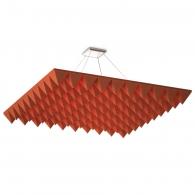 Акустическая подвесная звукопоглощающая панель Ecosound Quadro Pyramid Red. 50мм 1х1м Цвет красный