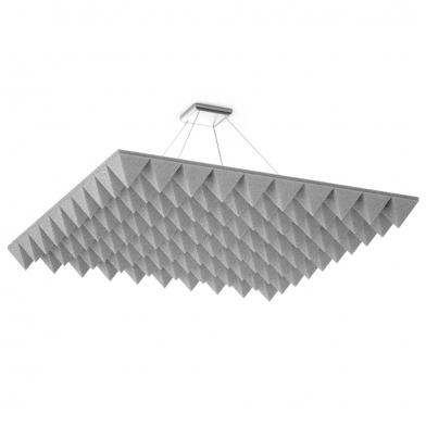 Купить акустическая подвесная звукопоглощающая панель ecosound quadro pyramid white. 50мм 1х1м цвет белый по низкой цене