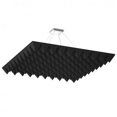 Купить акустическая подвесная звукопоглощающая панель ecosound quadro pyramid black. 50мм 1х1м цвет чёрный по низкой цене
