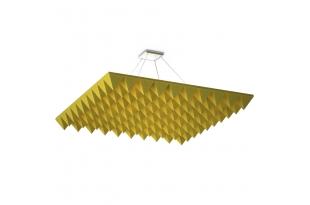 Акустическая подвесная звукопоглощающая панель Ecosound Quadro Pyramid Yellow. 50мм 1х1м Цвет жёлтый